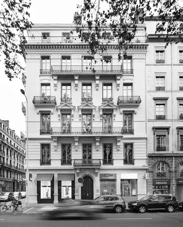Ravalement de l'immeuble quai Jules Courmont
